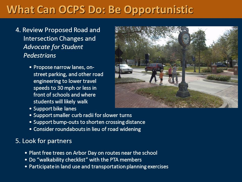 What Can OCPS Do: Be Opportunistic
