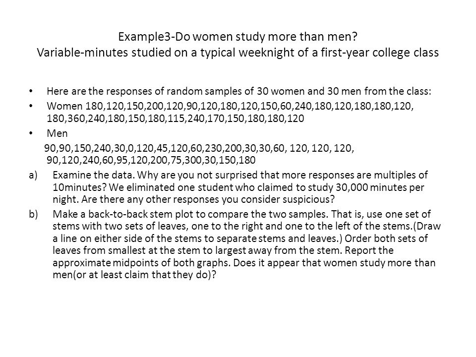Example3-Do women study more than men