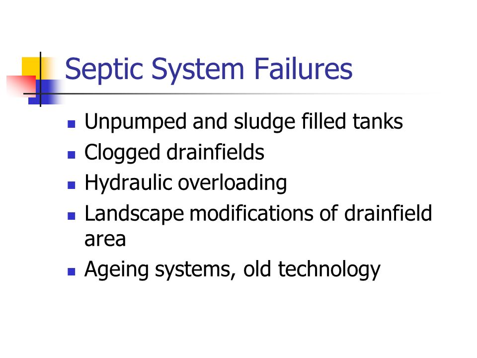Septic System Failures