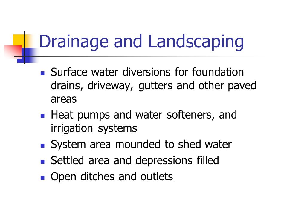 Drainage and Landscaping