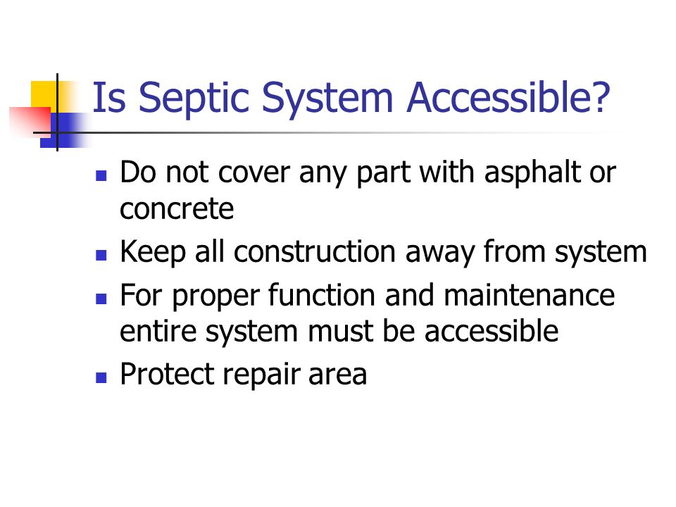 Is Septic System Accessible