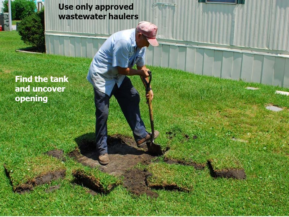 Use only approved wastewater haulers