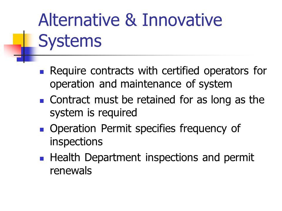Alternative & Innovative Systems