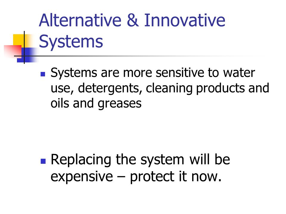 Alternative & Innovative Systems