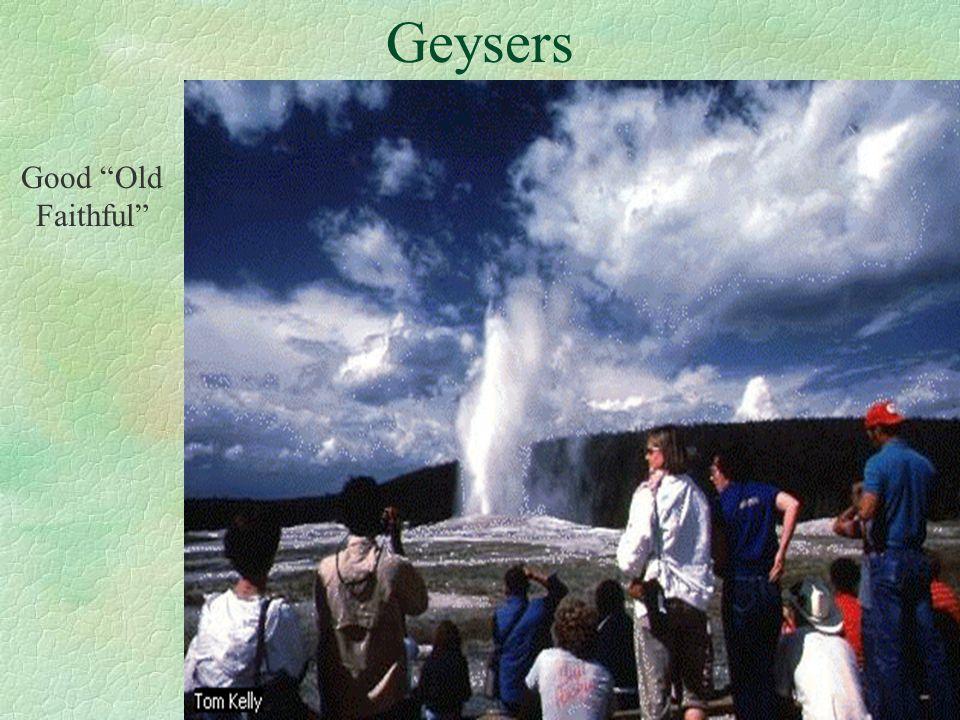 Geysers Good Old Faithful