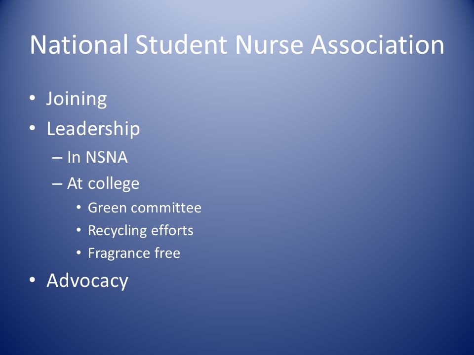 National Student Nurse Association