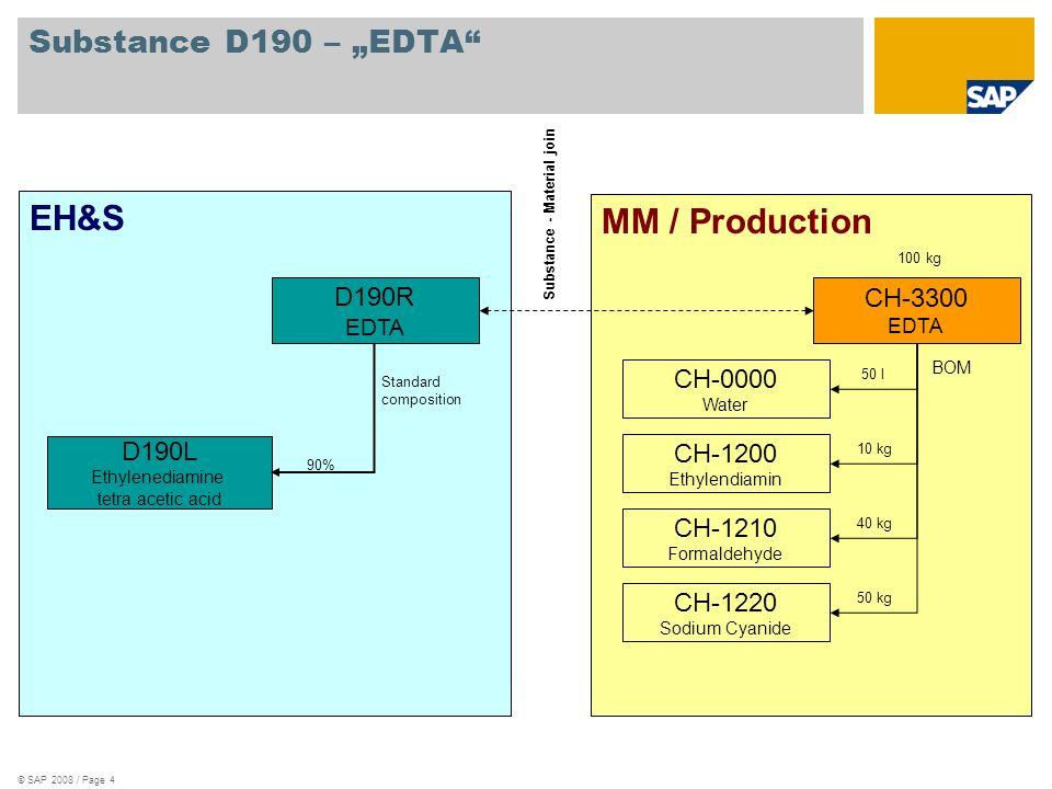 """EH&S MM / Production Substance D190 – """"EDTA D190R CH-3300 CH-0000"""