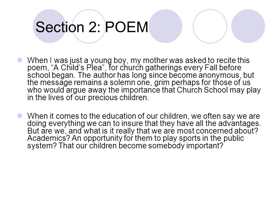 Section 2: POEM