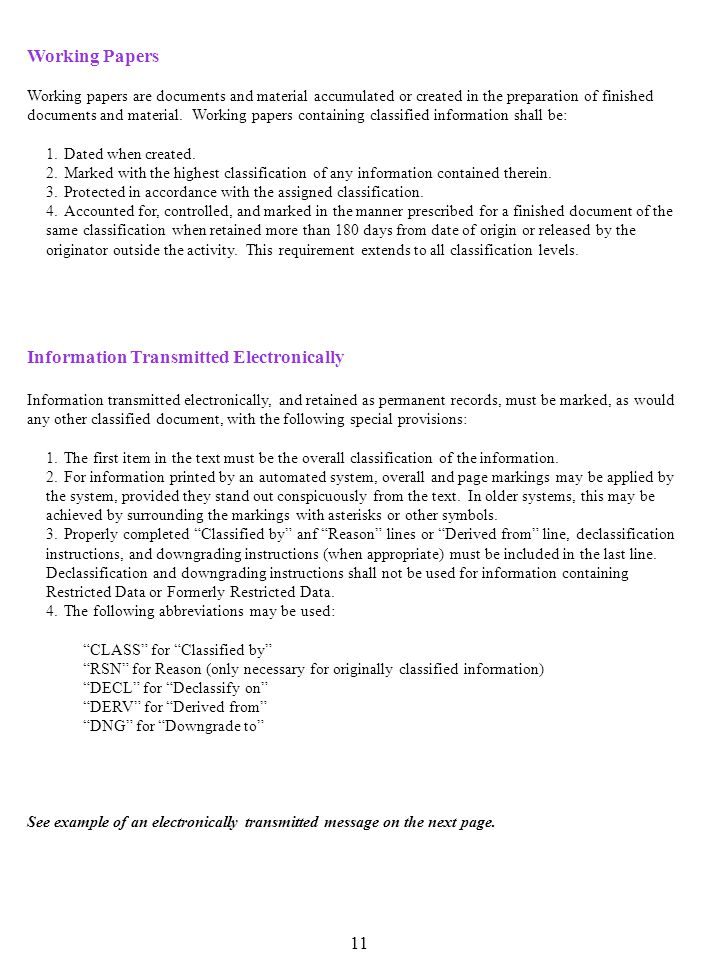 Information Transmitted Electronically