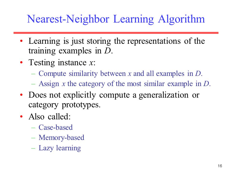 Nearest-Neighbor Learning Algorithm