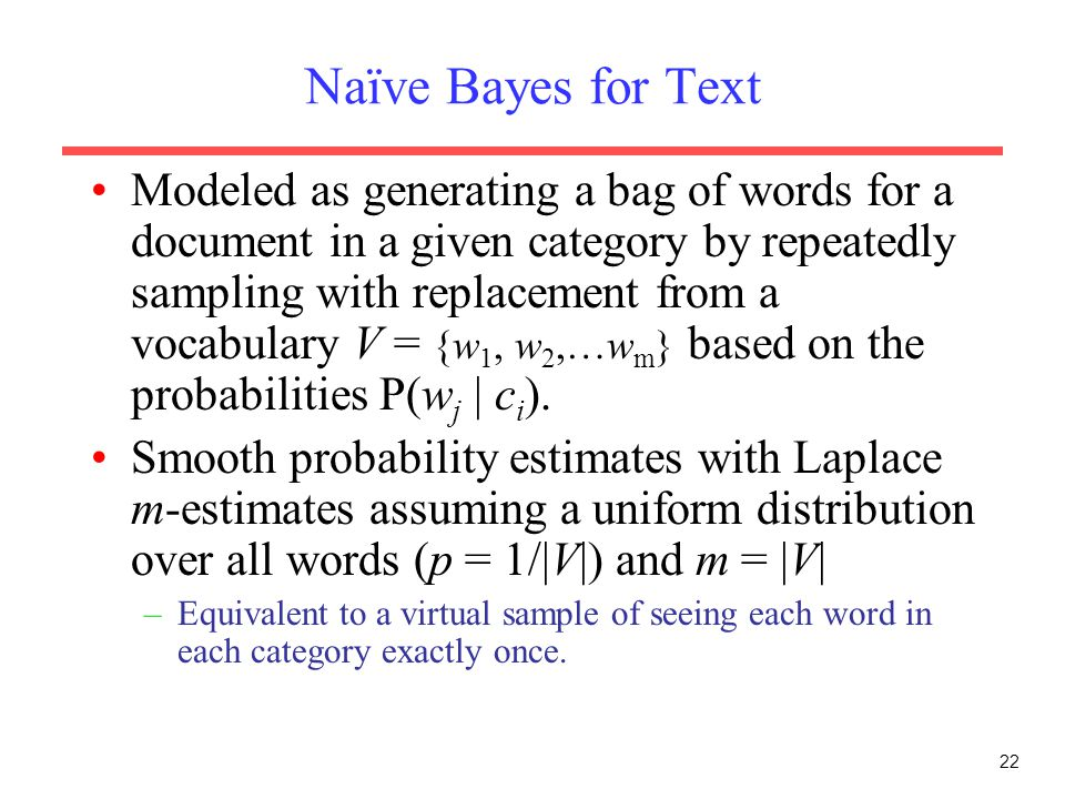 Naïve Bayes for Text