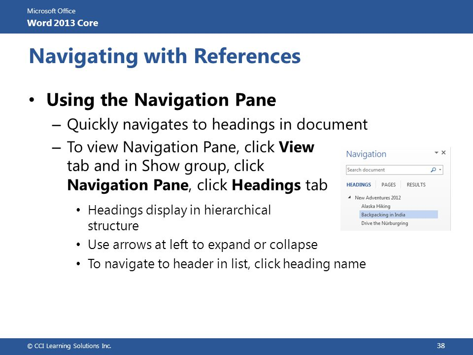 Navigating with References