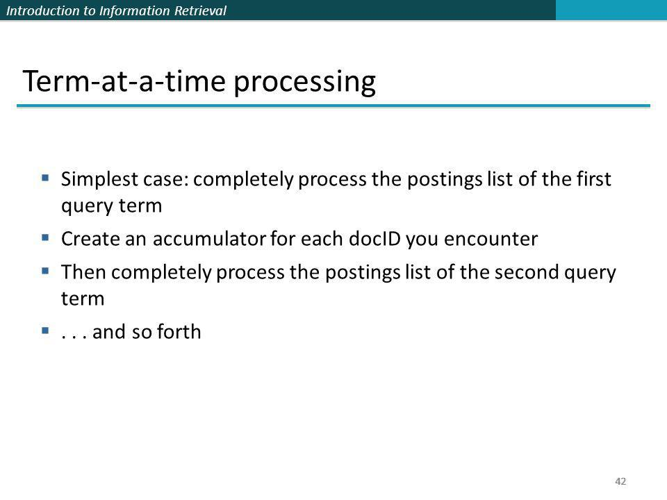 Term-at-a-time processing