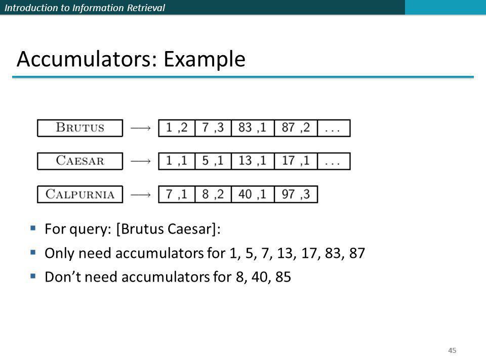 Accumulators: Example