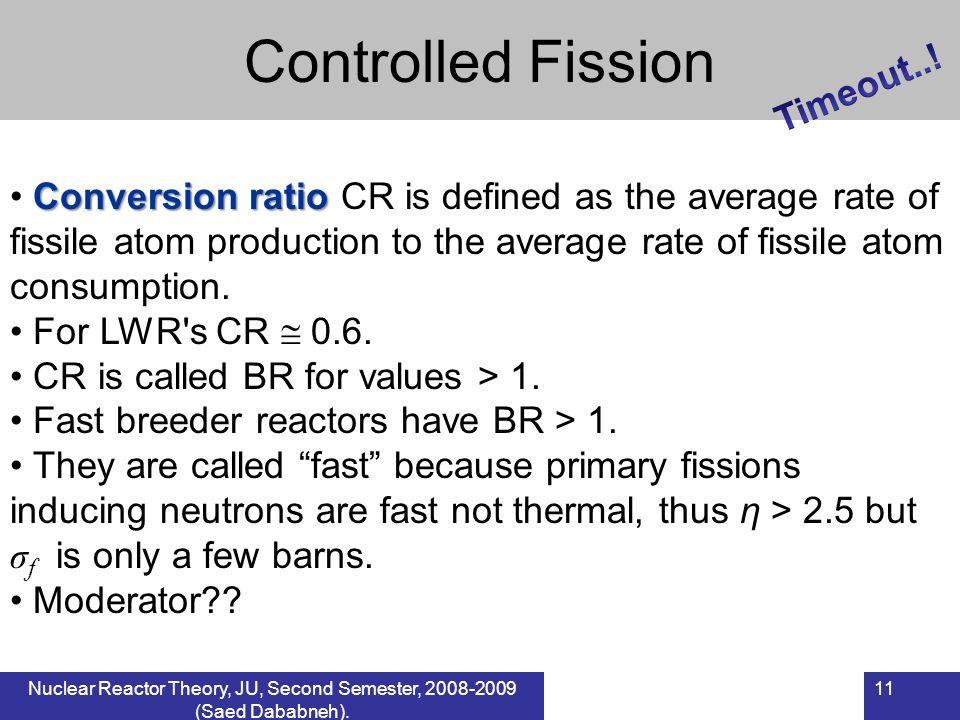 Controlled Fission Timeout..!