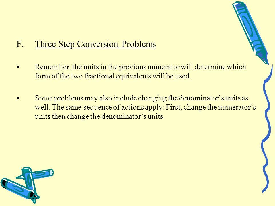 Three Step Conversion Problems