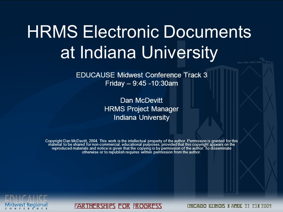 HRMS Electronic Documents at Indiana University