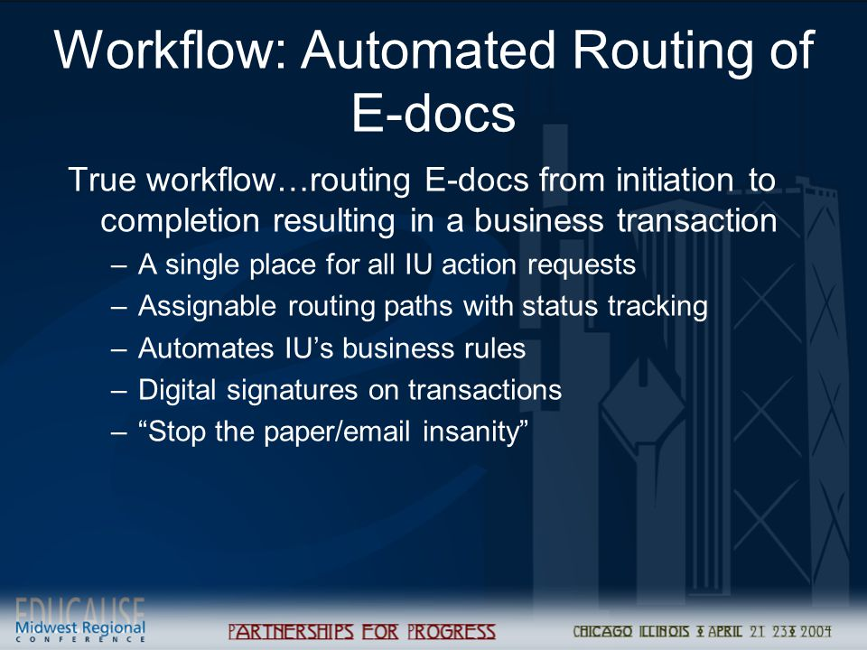 Workflow: Automated Routing of E-docs