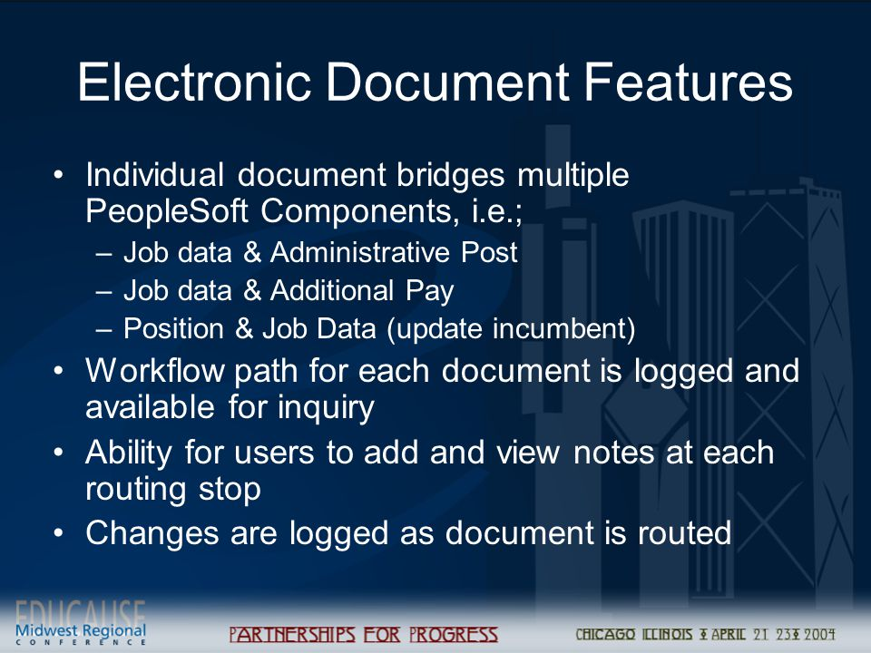 Electronic Document Features