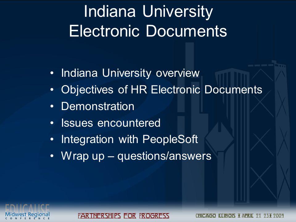 Indiana University Electronic Documents