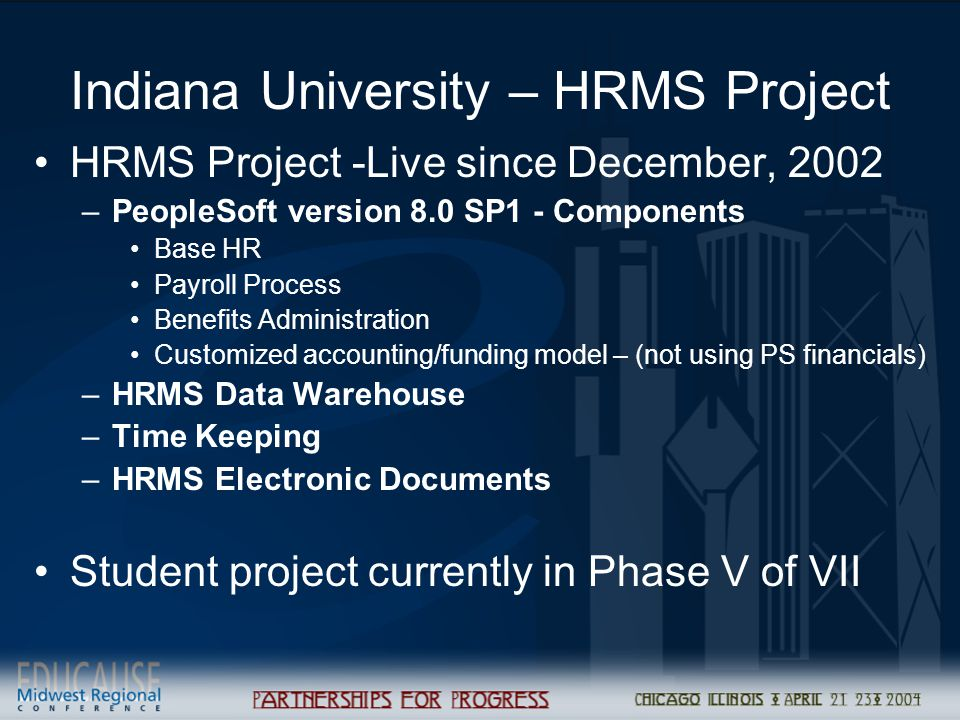 Indiana University – HRMS Project