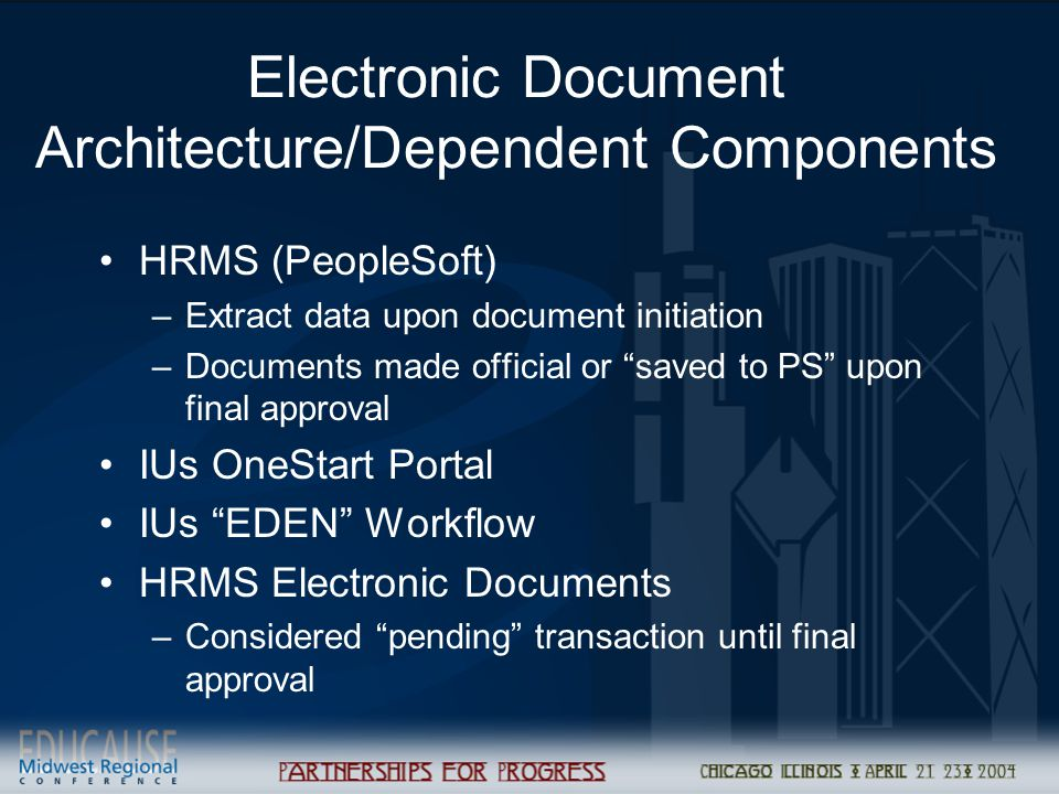 Electronic Document Architecture/Dependent Components