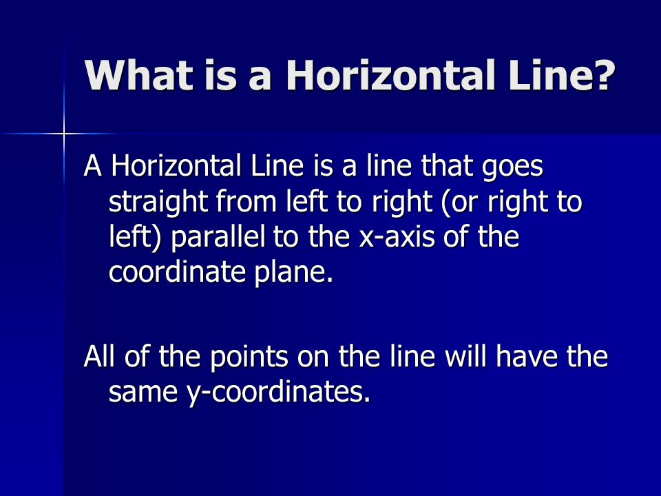 What is a Horizontal Line