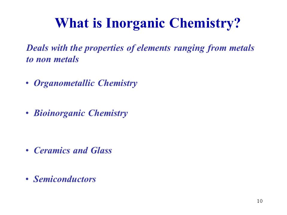 What is Inorganic Chemistry