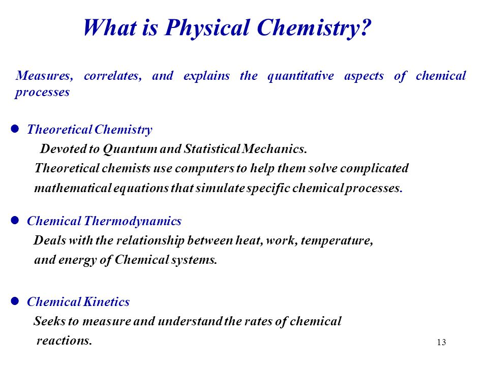 What is Physical Chemistry