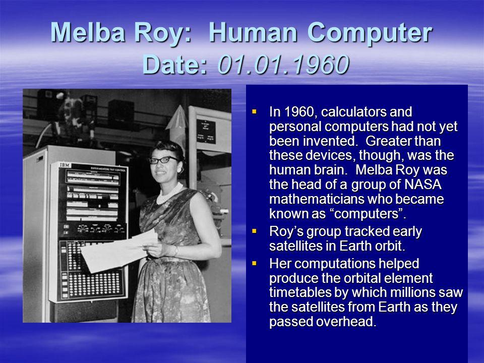 Melba Roy: Human Computer Date: 01.01.1960