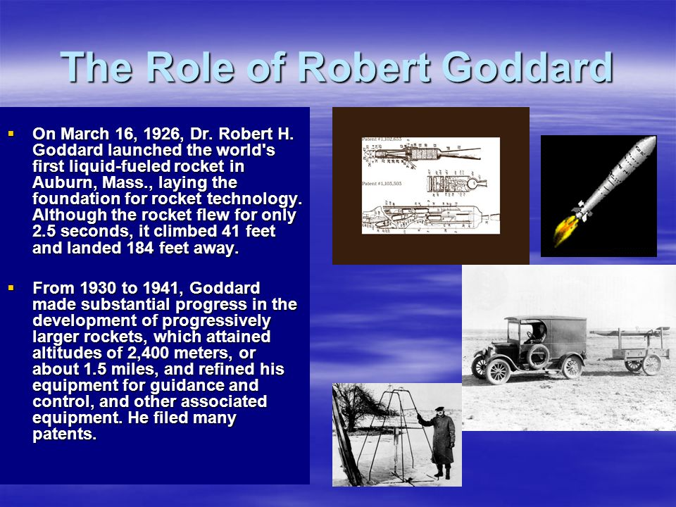 The Role of Robert Goddard