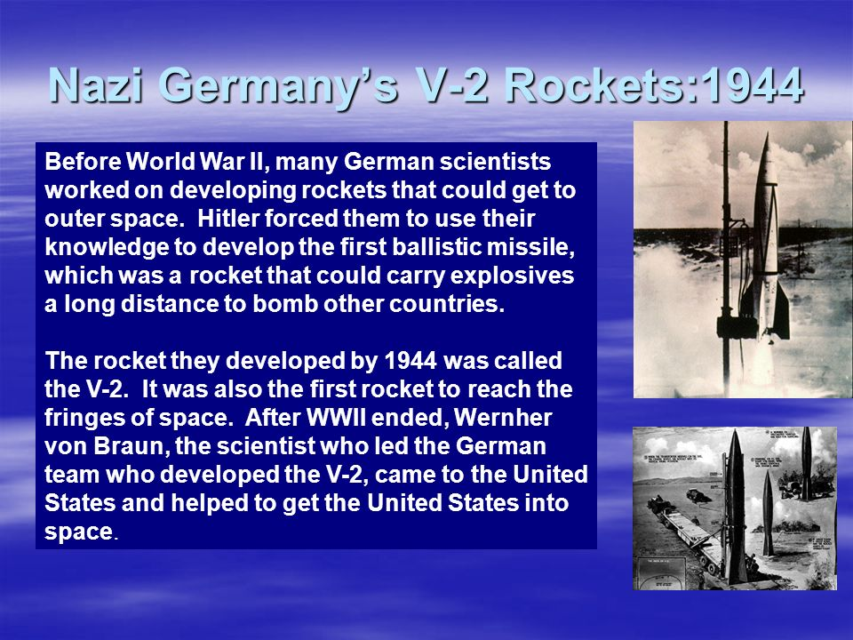Nazi Germany's V-2 Rockets:1944