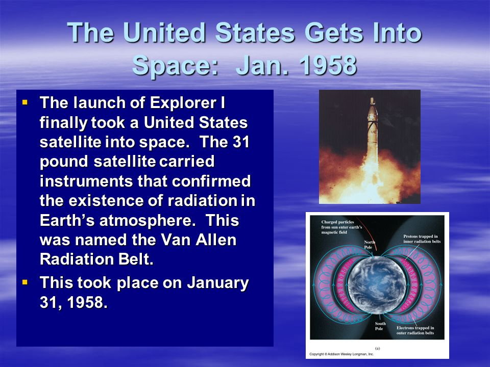 The United States Gets Into Space: Jan. 1958