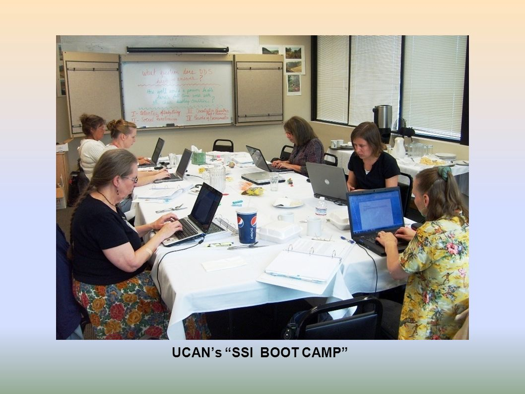 UCAN's SSI BOOT CAMP