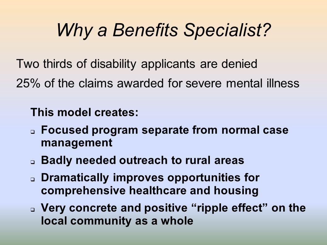 Why a Benefits Specialist