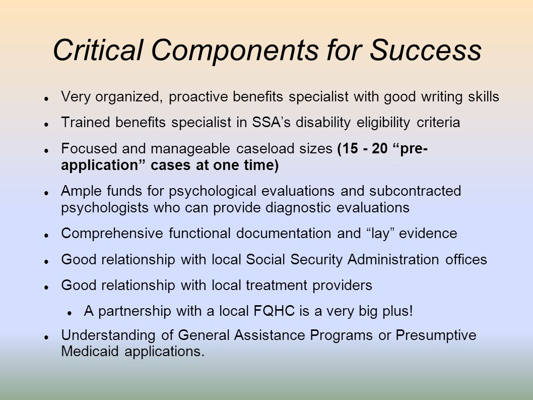 Critical Components for Success