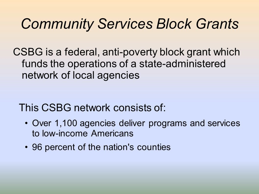 Community Services Block Grants