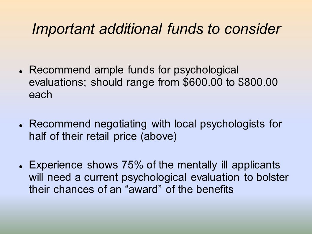 Important additional funds to consider