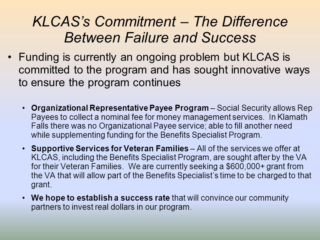 KLCAS's Commitment – The Difference Between Failure and Success