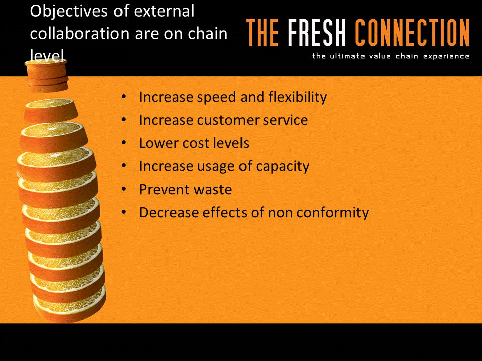 Objectives of external collaboration are on chain level