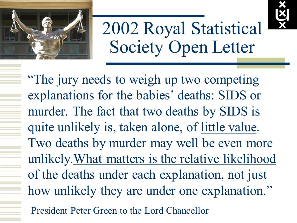 2002 Royal Statistical Society Open Letter