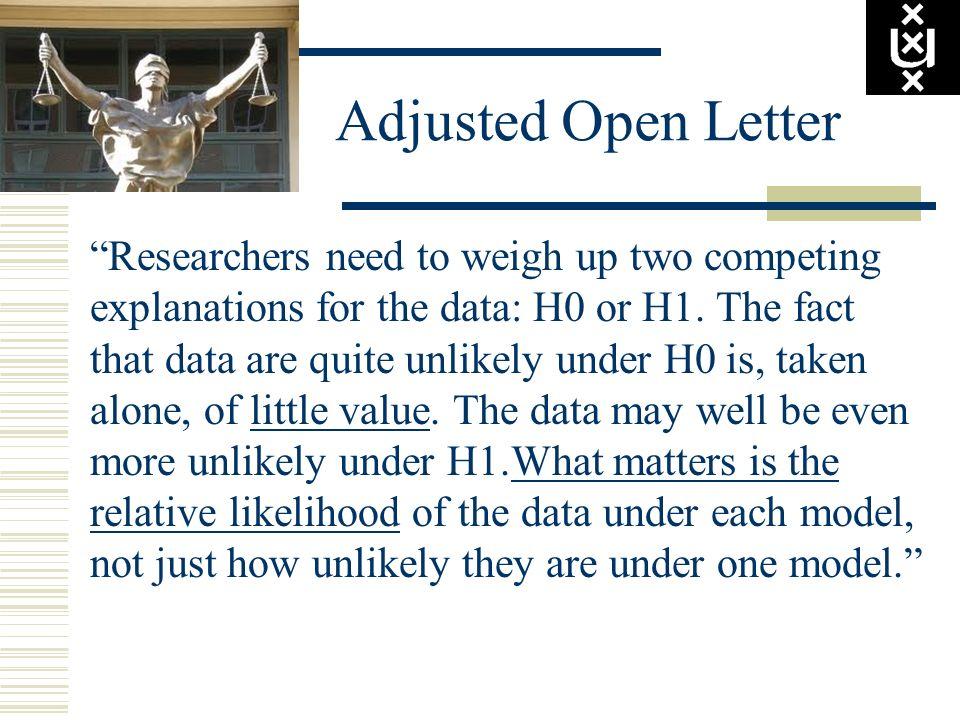 Adjusted Open Letter