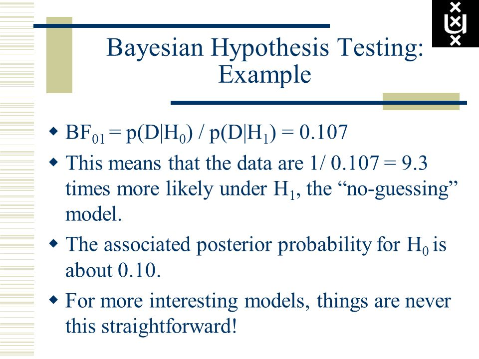 Bayesian Hypothesis Testing: Example