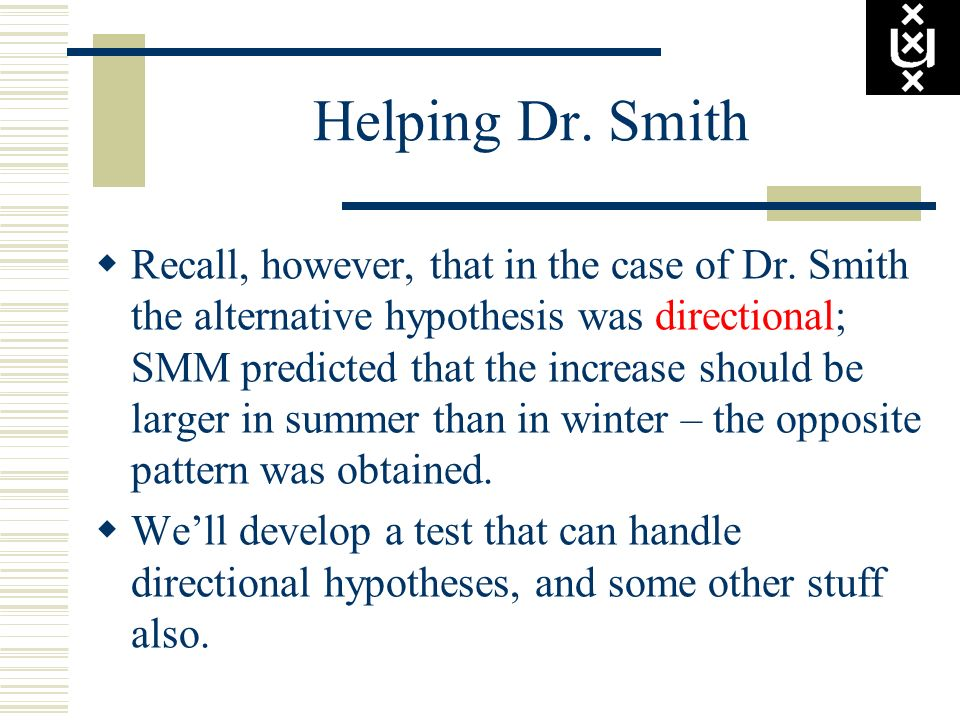 Helping Dr. Smith