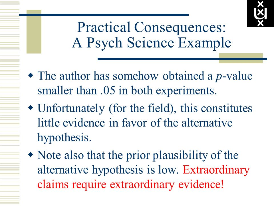Practical Consequences: A Psych Science Example