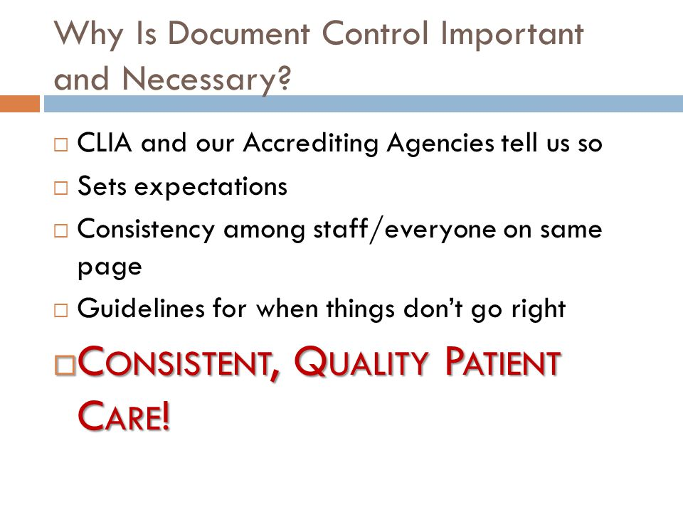 Why Is Document Control Important and Necessary