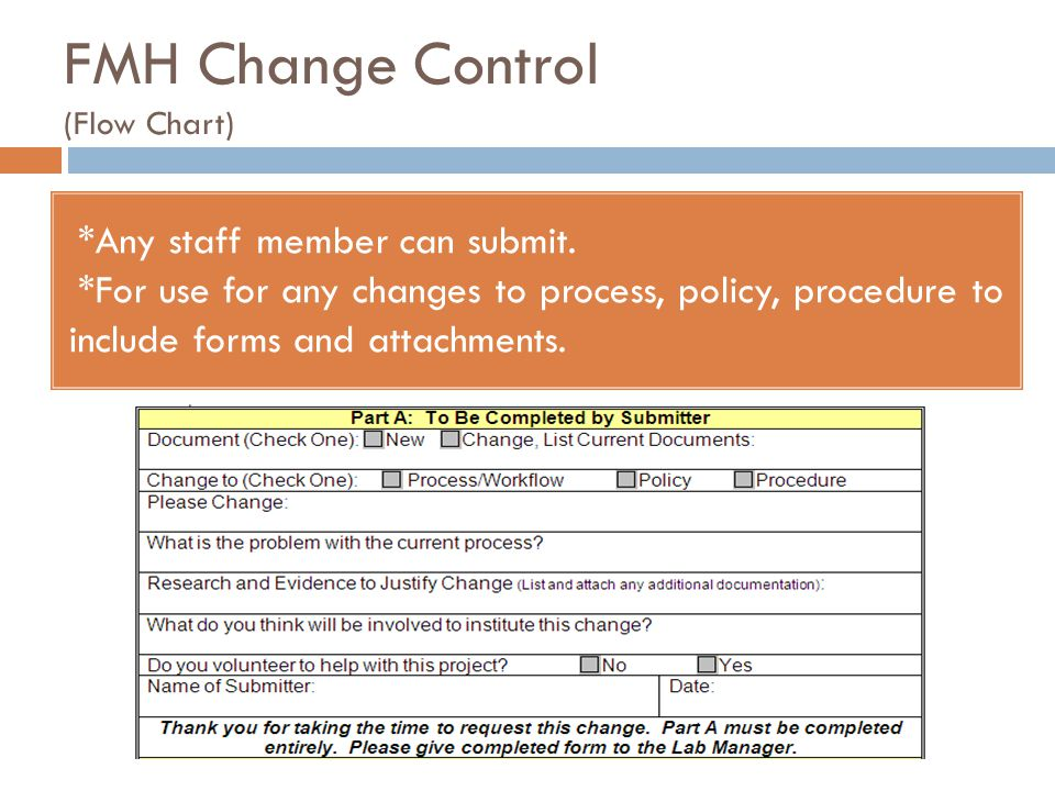 FMH Change Control (Flow Chart)