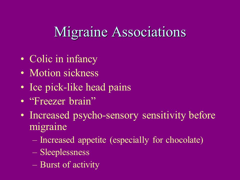 Migraine Associations