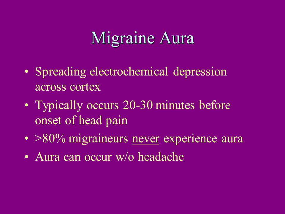 Migraine Aura Spreading electrochemical depression across cortex