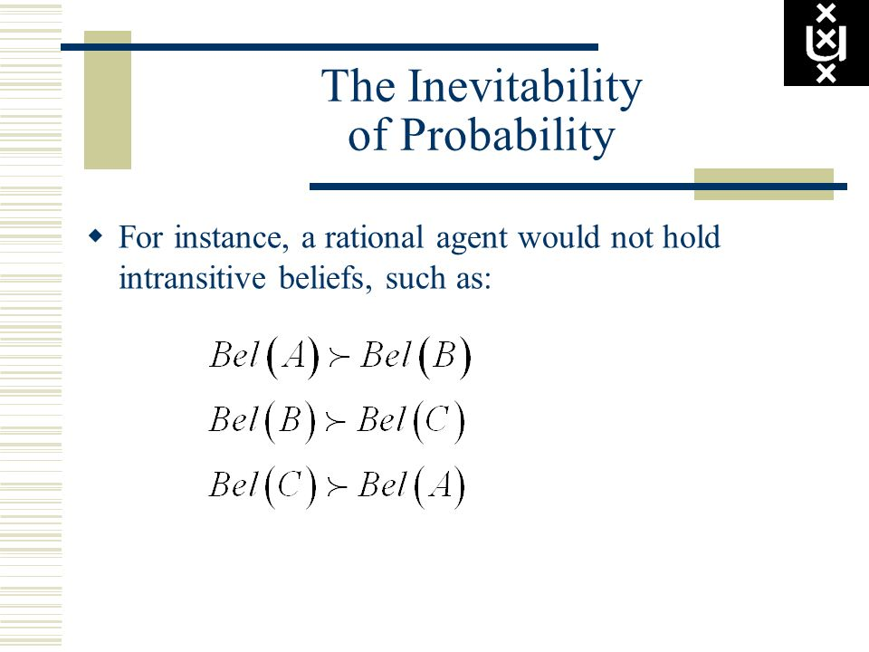 The Inevitability of Probability